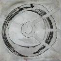 """Без заглавие, серия """"Тук и отвъд"""", 2007, китайско мастило върху хартия, 34x34 см"""