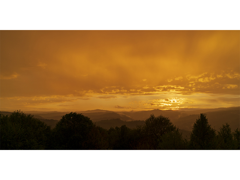 Sunset, photograph, digital print on DiBond, 100x200cm