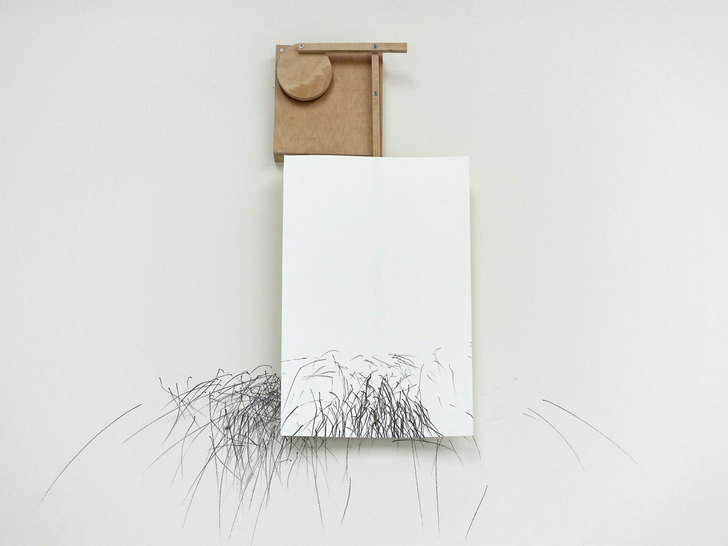 Boryana Petkova. 31:41:07, 2020, performative drawing, video, installation, dimensions variable