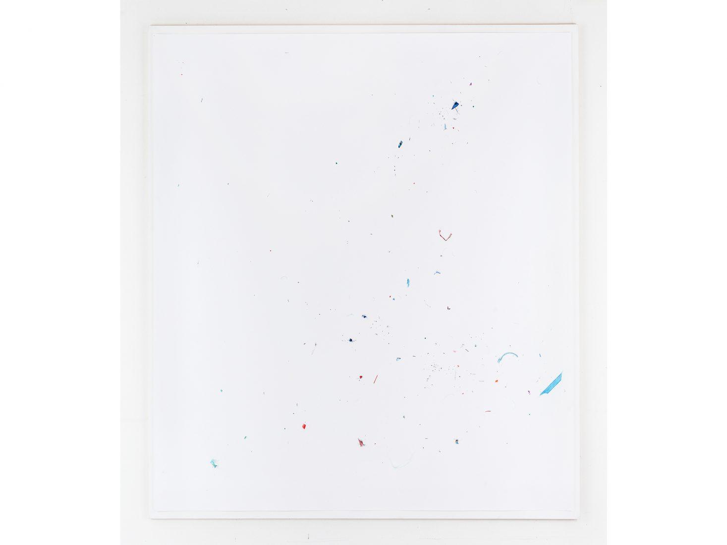 Михаил Михайлов. Прах при прахта#107, 2020, цветен молив върху хартия, 138х138см
