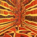 Сграфито 1, Серия Corner spaces, 2016, цветен печат върху алуминий, 100 х 100 см