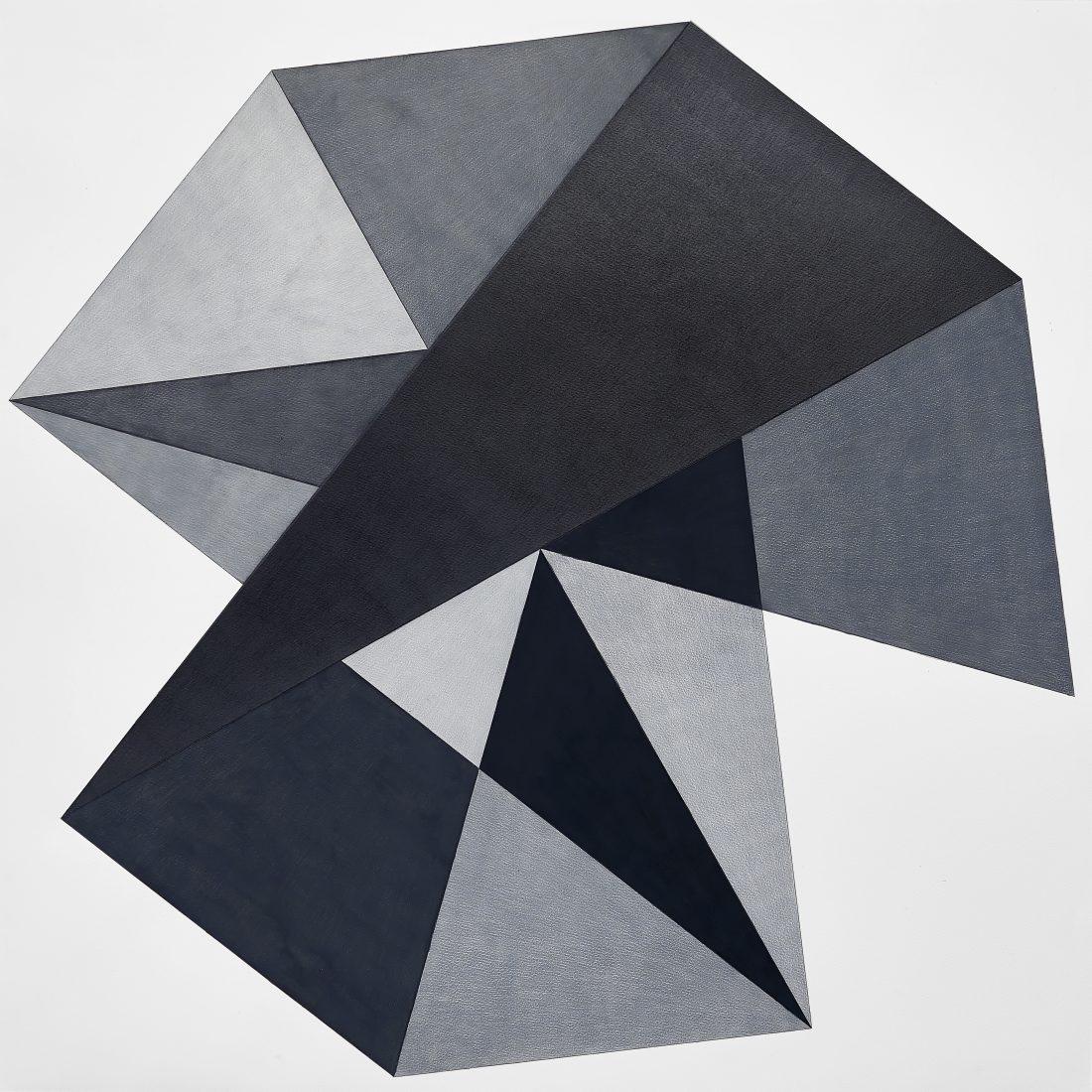 Без заглавие, 2017, акварел, цветен молив, молив върху хартия, 116 x 116 см. Courtesy Galerie Martin Janda, Vienna