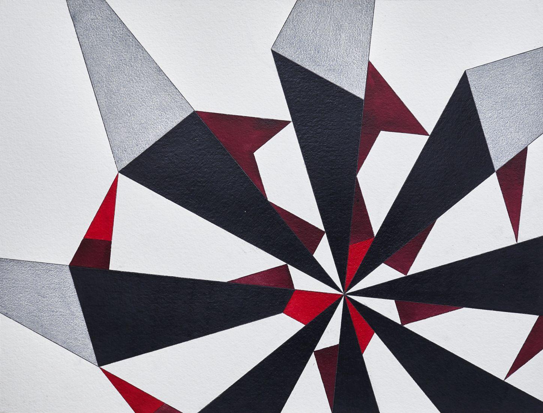 Без заглавие, 2017, акварел, цветен молив, молив върху хартия, 53 x 70 см. Courtesy Galerie Martin Janda, Vienna