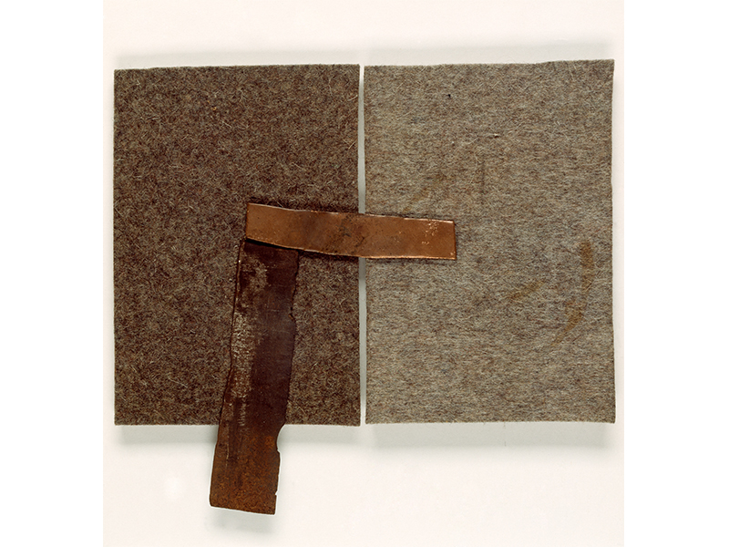 Joseph Beuys. Where Is Fat, 1985, Felt, copper, iron, 18,5 x 20,3 x 1,2 © VG Bild-Kunst, Bonn