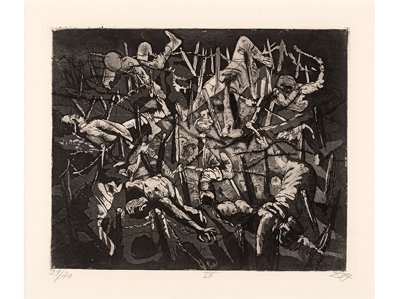 Otto Dix. Dance of Death, Anno Domini 17 (Dead Man´s Hill), 1924, etching opus VI, 24,5 x 30  © (Otto Dix) VG Bild-Kunst, Bonn