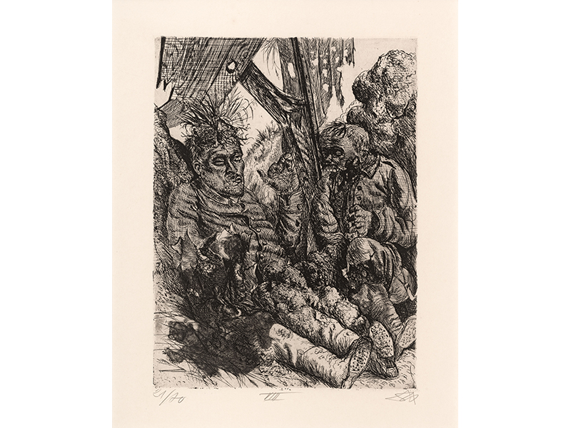 Otto Dix. Seen on the Slopes of Cléry-sur-Somme), 1924, etching opus, 26 x 19,6 © (Otto Dix) VG Bild-Kunst, Bonn