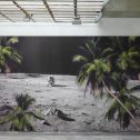 Untitled (Moon Paradise) 2013 - 2020, wallpaper on wall, 390/310 cm