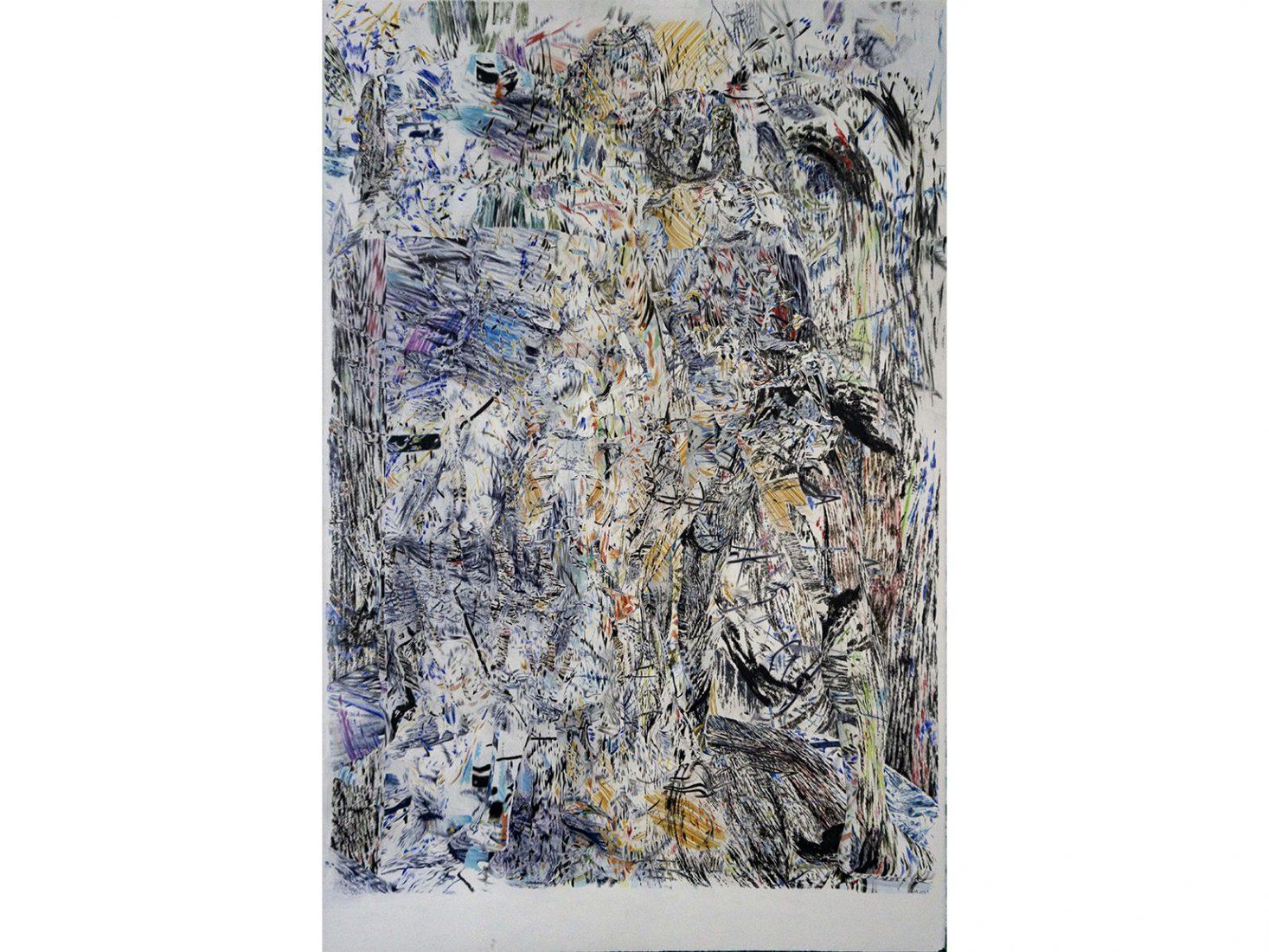 Николай Константинов. Бягство от Троя 05, 2020, цветни моливи, хартия, 102,5 х 66,5 см