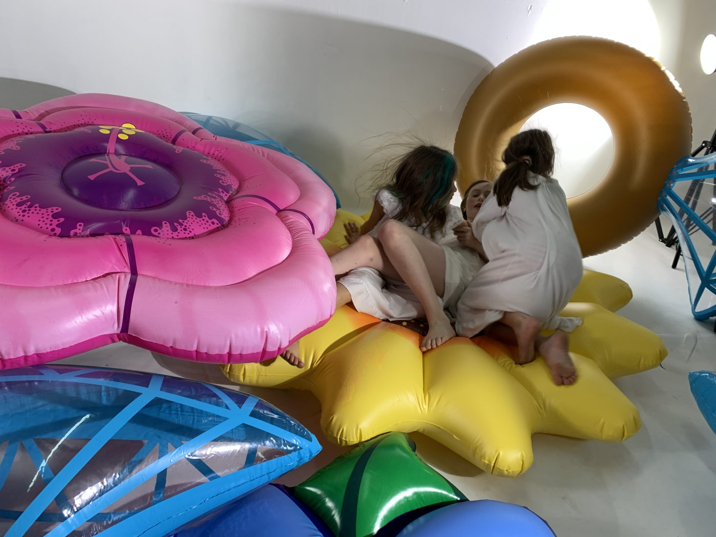 Daniela Kostova. Princess Beauty, 2020, video, inflatable objects, Leo Kuelbs Collection