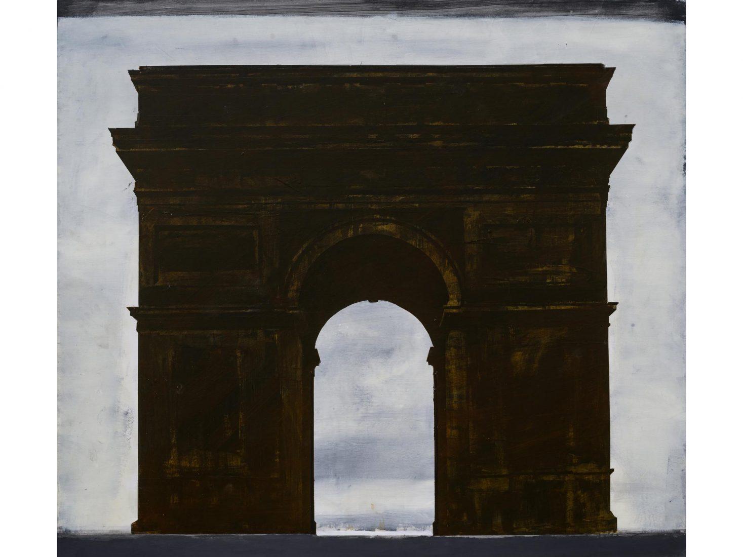 Иво Бистрички. Арка, 2020-21, акрил, платно, 180x180x3 см